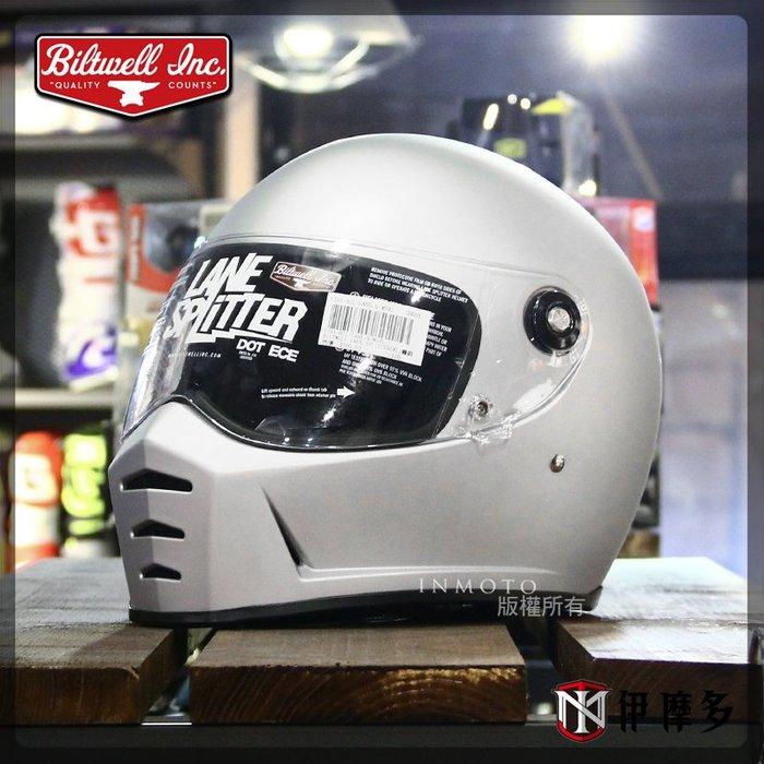 伊摩多※美國 Biltwell Lane Splitter 全罩式 安全帽 復古帽 哈雷 美式 凱旋 時尚 素消光銀
