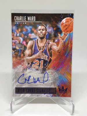 18-19 Court Kings High Signatures /25 Auto Charlie Ward 限量25張簽名卡