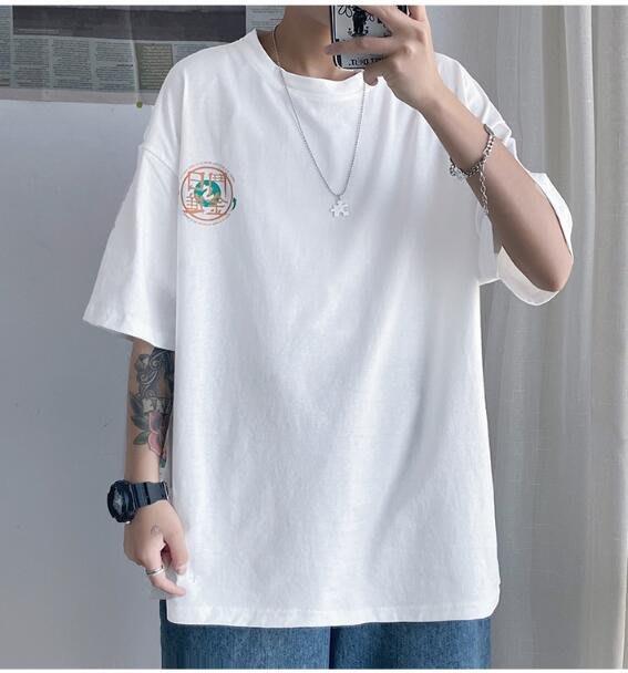FINDSENSE X 男款 時尚 寬鬆 舒適 男裝寬  中性 休閑 情侶大碼 短袖T恤男