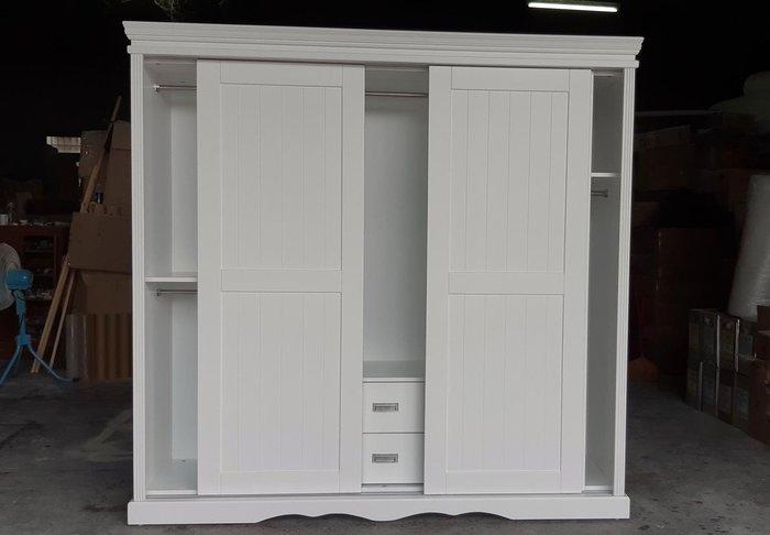 美生活館 鄉村風格 純白 三推門 衣櫃 衣櫥 收納櫃 臥房儲物櫃 衣服收納櫃