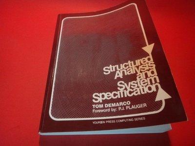 【愛悅二手書坊 14-21】Structured Analysis and System Specification