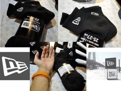 New Era Japan Ankle Socks Black/White Logo x 3 NE日本線半長襪子黑色3雙