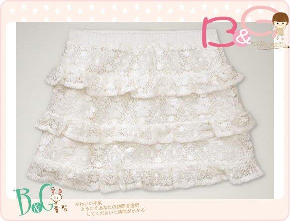 【B& G童裝】正品美國進口GAP Lace skirt 白色蕾絲蛋糕型短裙3,4,5yrs