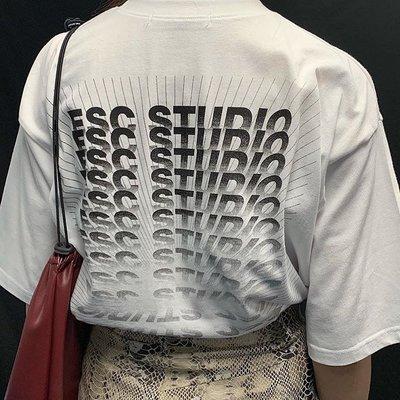 【inSAne】ESC STUDIO Back Print Tee 黑/白 單一尺寸