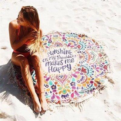 歐美海灘必備波希米亞圖騰夏日陽光比基尼沙灘巾渡假野餐必備