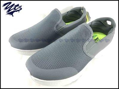 SKECHERS GO WALK 4 灰白 健走 網布 休閒 男鞋 懶人鞋 運動 健身  54171CHAR YTS
