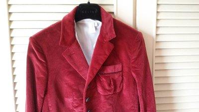 Les Copains 紅酒紅 單排釦 西裝上衣 原價$42580