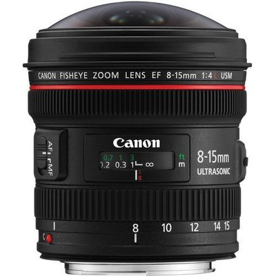 九晴天 租鏡頭 租相機 出租~Canon EF 8-15mm F4L USM