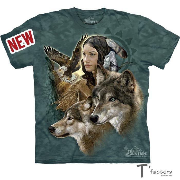 【線上體育】The Mountain 短袖T恤  S號 印地安少女 TM-103389.jpg