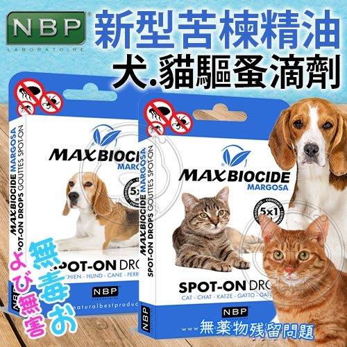 【??培菓寵物48H出貨??】西班牙NBP》新型苦楝除蚤精油滴劑-5入/盒(犬用/貓用) 特價199元(可超取)