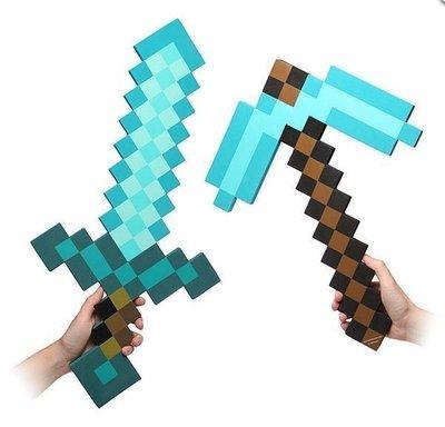台灣現貨可超取有實拍圖官方版當個創世神泡沫鑽石鎬官方EVA泡沫鑽石劍cosplay Minecraft史蒂夫玩家必備武器