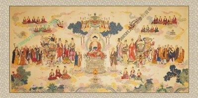 【62*152cm】【卷軸畫】佛祖 東西會 精品字畫 已裝裱國畫客廳裝飾畫【180820_116】