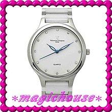 *夢幻精品屋*【可刷卡↘890】范倫鐵諾《不鏽鋼高級精密陶瓷錶》男白-現貨搶購中!