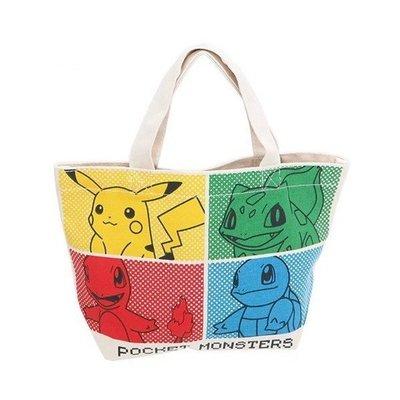 日本 Pokemon 神奇寶貝 皮卡丘 帆布手提袋 午餐手提袋