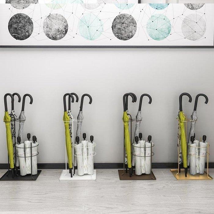 雨傘架 創意新品家用入戶酒店門廳大堂雨傘架歐式鐵藝落地雨傘桶收納架子