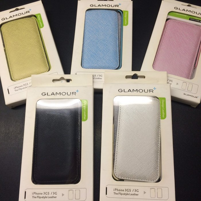 【eWhat億華】Apple Glamour iphone 格林紋掀蓋式皮套+AG霧面跟HC抗刮 雙保護貼 藍色  福利品出清 【1】