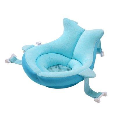 新生兒寶寶浴床嬰兒洗澡神器可坐躺防滑海綿懸浮墊浴盆架網兜通用 〖花樣年華〗