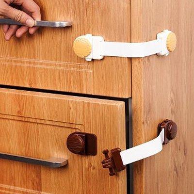 ☜shop go☞【N90-1】餅乾造型櫃門抽屜安全鎖 兒童 防護 冰箱 櫥櫃 鎖扣 防夾 掉落 保護