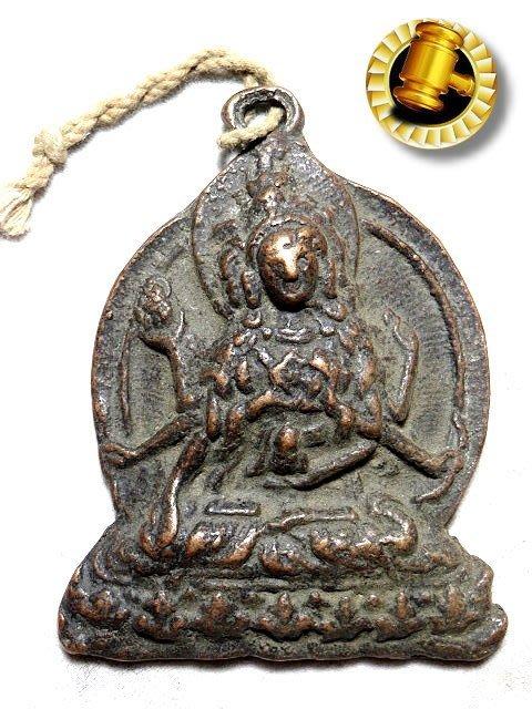 【 金王記拍寶網 】T1464  中國西藏藏密佛像 銅雕佛牌 一個 罕見稀少~