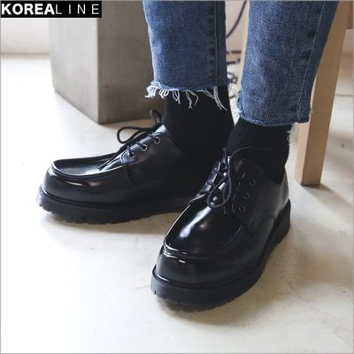 搖滾星球韓國代購 型男穿搭高質感皮革工作鞋 / 2色 EF980429