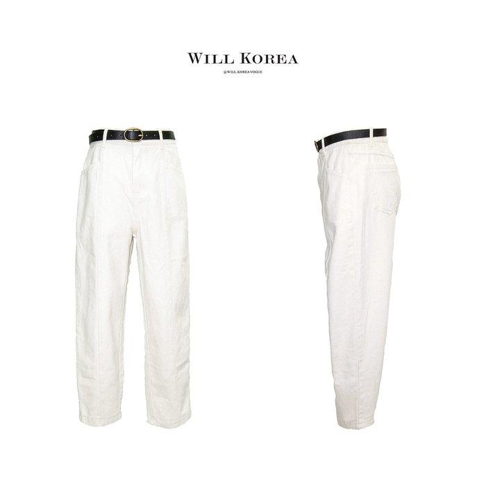 【 WILL韓 】附帶斜紋男友褲