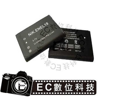 【EC數位】Nikon 相機 COOLPIX W100 專用 EN-EL19 電池 ENEL19