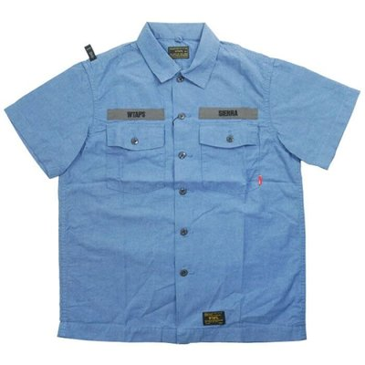 WTAPS 17SS BUDS SS SHIRT. CHAMBRAY 水藍 牛津 短襯