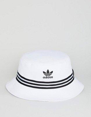 【Footwear Corner 鞋角】Adidas OG Logo Bucket Hat White 三葉草電繡漁夫帽