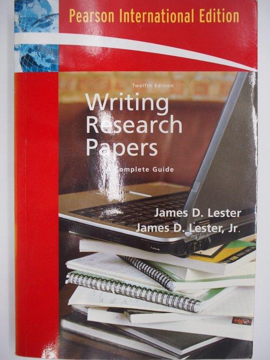 【月界】Writing Research Papers-12版(絕版)_James D. Lester〖大學社科〗AGC