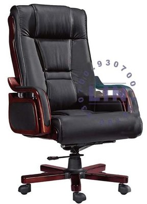 【品特優家具倉儲】◎P182-07辦公椅主管椅半牛皮辦公椅YD-2147◎