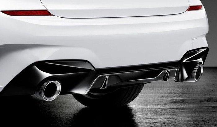 【樂駒】BMW G20 M Performance 原廠後保下飾板 高光黑 改裝 套件 空力 外觀