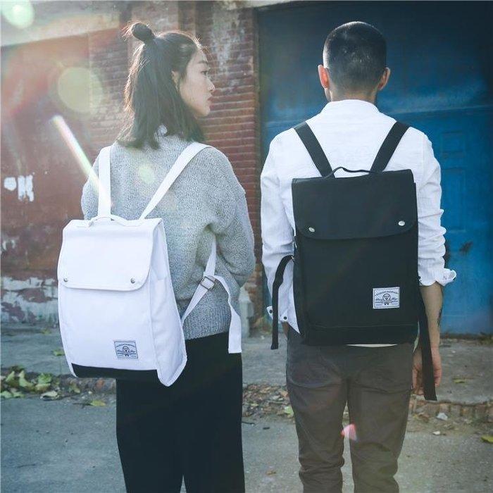 筆電包日韓版後背包學院風女學生書包帆布校園旅行背包男筆電包15.6寸潮