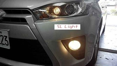 SL光電精品~2014 YARIS 專用 霧燈 專用開關座 穿透性透明燈殼 OSRAM 燈泡