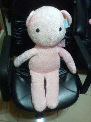 全新可愛粉紅糖果兔蝴蝶結大玩偶(高約80公分)