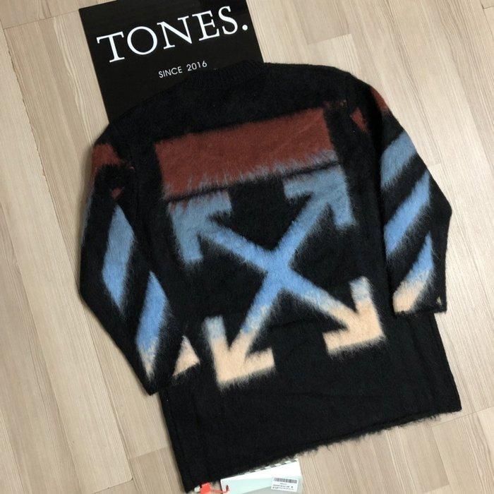 【TONES.】OFF WHITE FW18 漸層設計 海馬毛 毛衣 新品上架