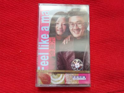 全新未拆【原裝正版录音帶】天織堂 CD 錄音帶 DVD  Feel like a man 廣州音像出版