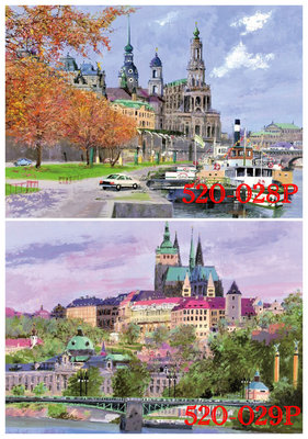 拼圖專賣店 拼圖 520片夜光風景拼圖 520-208P 德勒斯登的秋天 520-209P布拉格城堡景觀