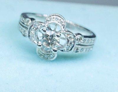 嫁給我求婚戒~天然鑽石30分配真鑽石32分E/VVS1/18K鑽戒#12~附GIA和蓁鑽石鑑定書