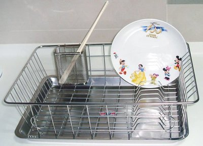 ☆成志金屬☆S-8-1A 不鏽鋼網籃附水盤及筷子籃,碗盤籃架瀝水籃架,品質優良價格好買