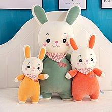 佈谷林~兔子毛絨玩具公仔床上布娃娃兒童萌抱枕生日禮物可愛小玩偶女孩