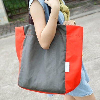 大容量防水摺疊便攜式購物袋超市環保袋買菜包帆布單肩男女手提袋【轉角屋】