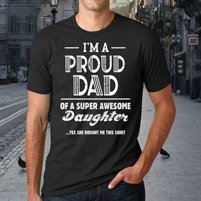 跨境專供wish亞馬遜速賣通爆款T恤 PROUD DAD字母印花男士短袖T恤