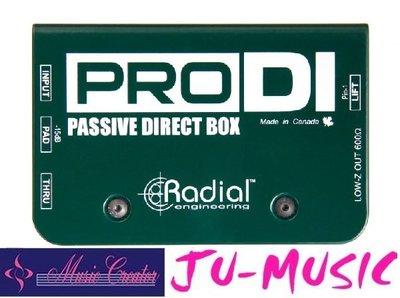 造韻樂器音響- JU-MUSIC - Radial ProDI DI 專業DI 高輸出樂器而不會失真『公司貨,免運費』