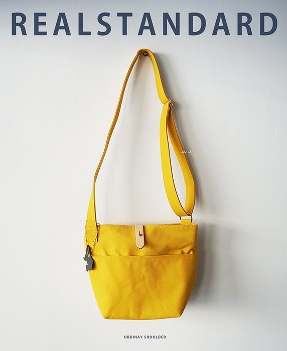 REAL STANDARD 日本製 檸檬黃 堅挺 帆布袋 梯形側背 肩背包