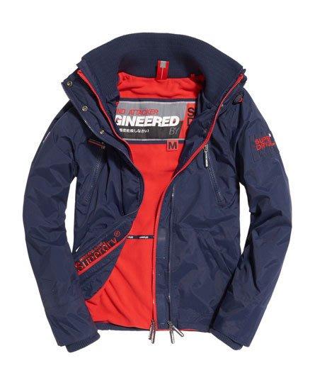 【蟹老闆】SUPERDRY 機能型風衣外套 Polar Wind Attacker夾克 深藍紅內裡 無帽 男款