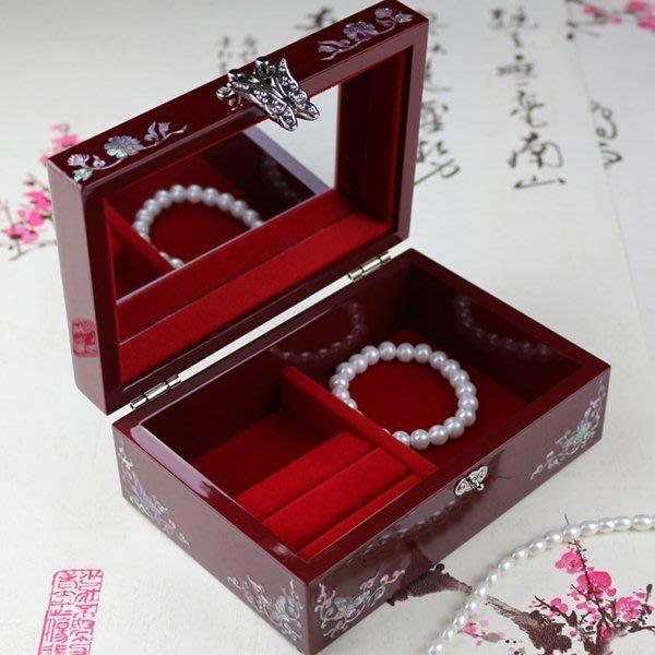 5Cgo【鴿樓】會員有優惠 38198212807 七公主韓國飾品首飾盒大實木質歐式帶鎖 結婚生日禮物化妝品收納箱