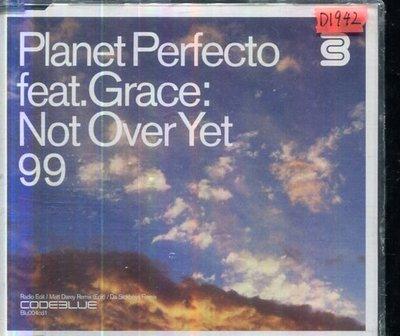 *還有唱片四館* PLANET PERFECTO FEAT.GRACE / NOT OVER YET 全新 D1942