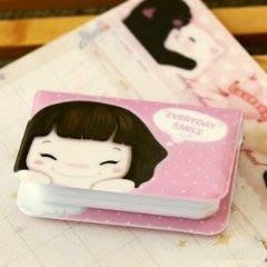 韓版可愛妞子 12卡卡包 信用卡 名片 會員卡 收納卡包-艾發現
