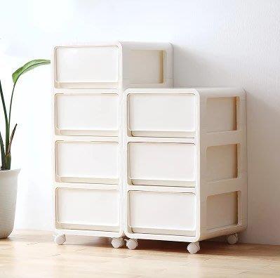 『格倫雅』簡約抽屜式收納櫃塑膠收納櫃子床頭櫃整理箱多層抽屜櫃儲物 65906^1671