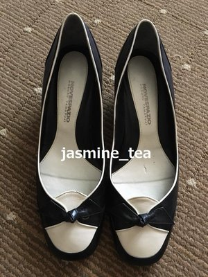 特價商品・J-196/USED<日本NOVESPAZIO 皮革配色跟鞋>24